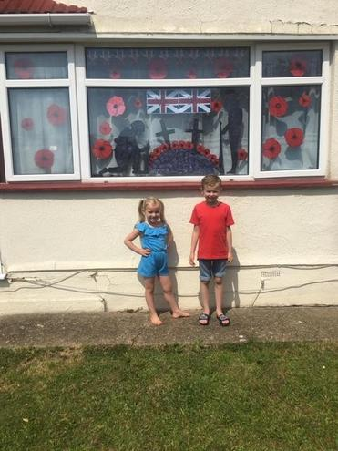 Dylan & Halle's VE Day decorations