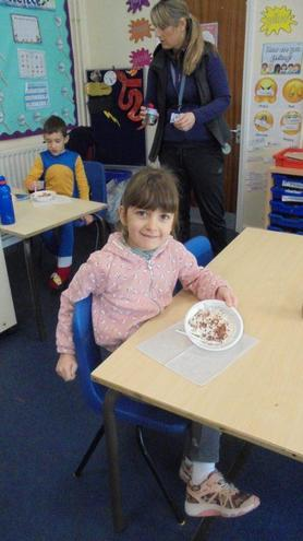 2 Tudor making children's Tiramisu
