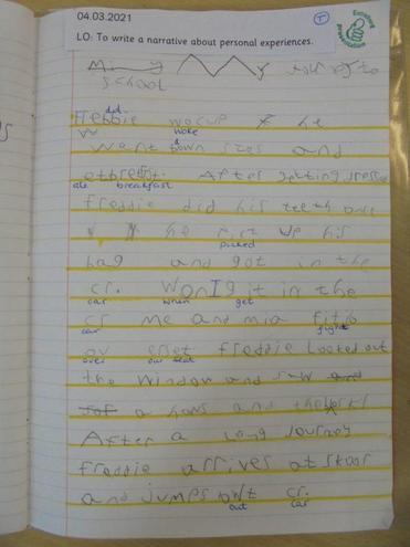Freddie's English work