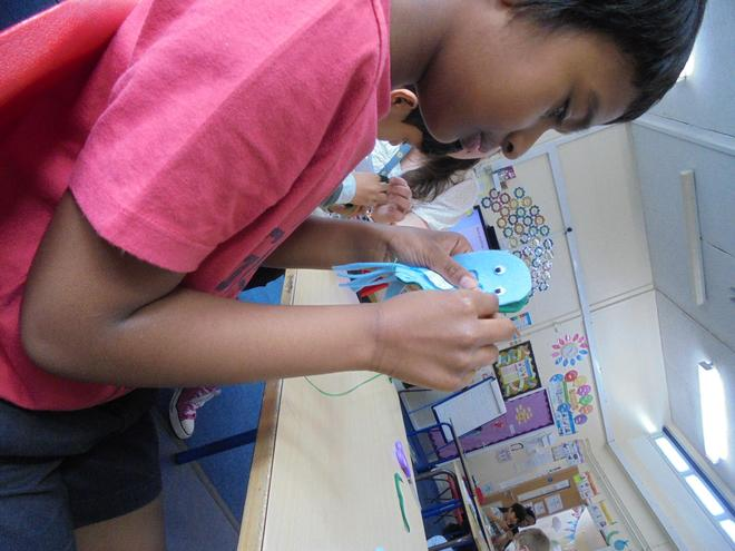 Sewing Finger Puppets in DT