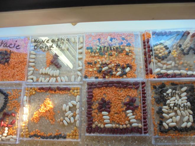 We made Roman Mosaic's on our Roman Day