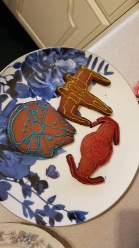Alexander's Star Wars cookies
