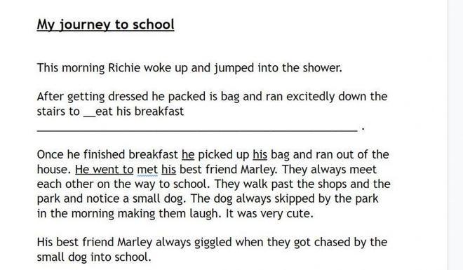 Richie's English work