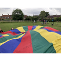 Parachute games in the park