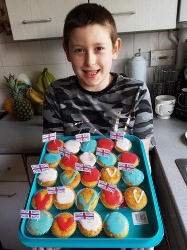 Alden's VE Day cupcakes