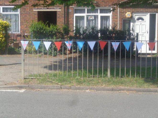 Bunting made by key worker children