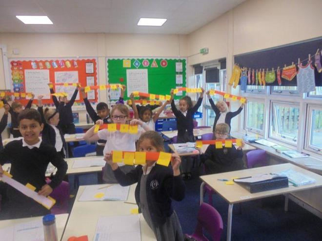 Placing numbers on a numberline