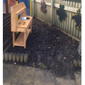 Our mud kitchen!! Can you make tasty treats?
