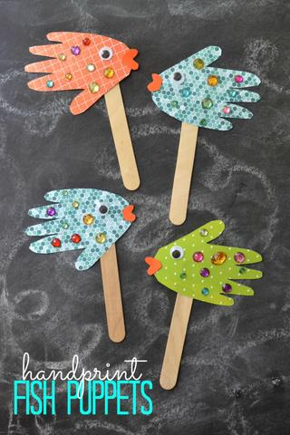 Fish Hand puppets!