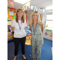 Hello I am Mrs Barford and I teach 1/2B. This is our teaching assistant Mrs Huyton.