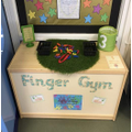 Our finger gym area for busy hands