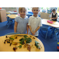 We enthusiastically collected nature treasure.
