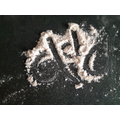 Writing d in the flour