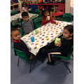 Tasting our Halloween cakes