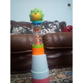 I made a tower from toys.