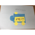 I used shapes to make a Police car