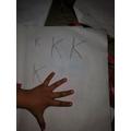 Writing k