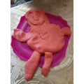 I made a playdoh man.