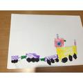 I drew a train