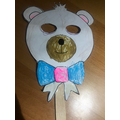 I made a baby bear mask