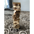 I made a tower from wooden bricks