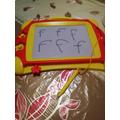 Writing f