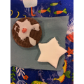 Christmas pudding biscuits and peppermint creams