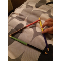 I made a triangle from  crayons