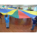We worked together when using the parachute