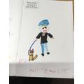 I drew a Police officer