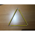 I made a triangle from pencils