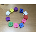 I made a circle from cubes
