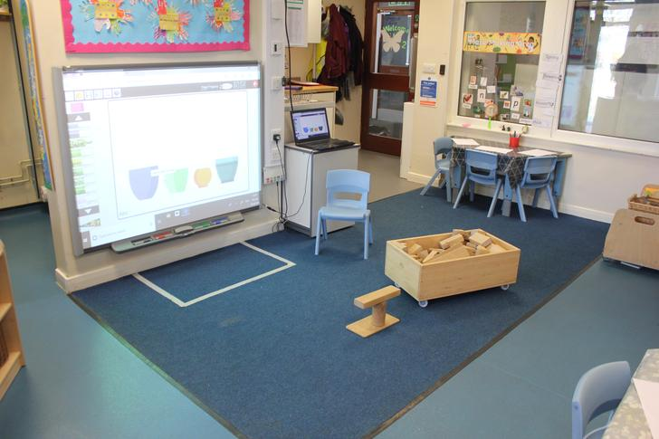The children have access to our interactive board