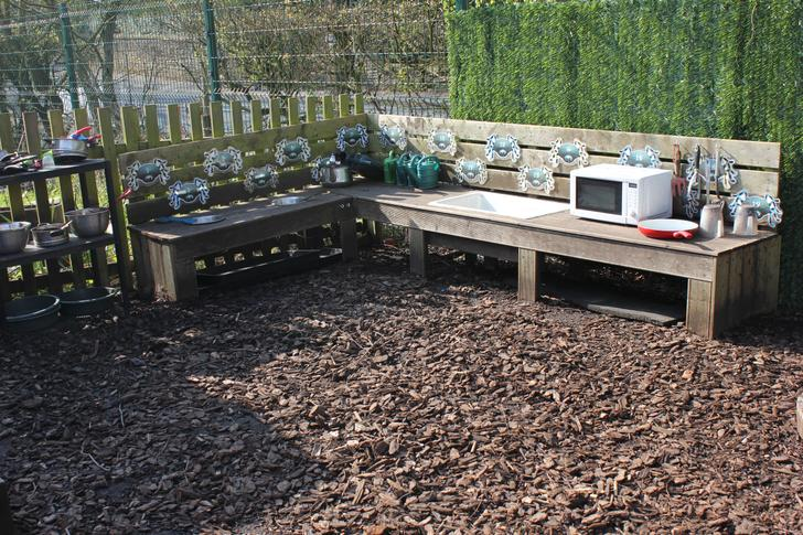 Our mud kitchen and nature area.
