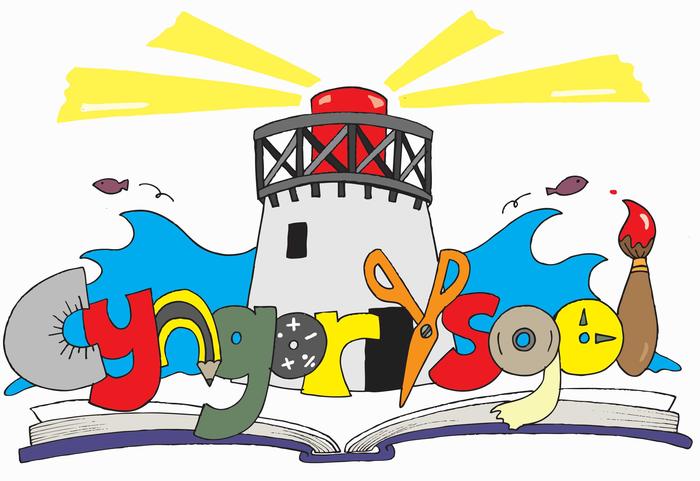 Ein logo newydd gan CISP a phlant yr ysgol