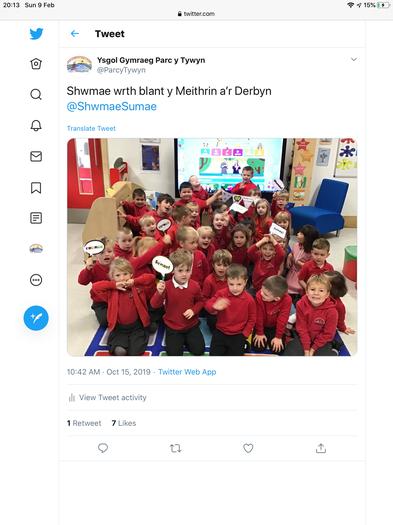 Shwmae o'r Meithrin/Derbyn