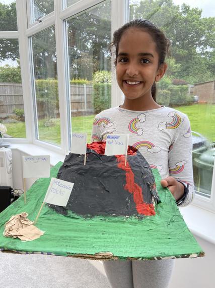 A fantastic 3D model of a volcano