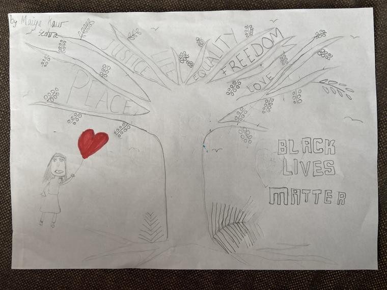 'Black Lives Matter' inspired artwork by Maiya
