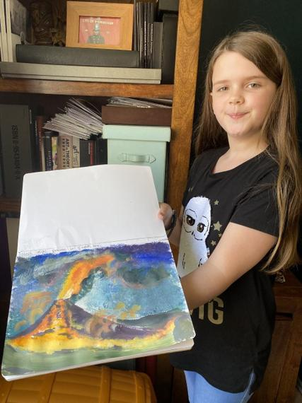 Brilliant volcano painting!