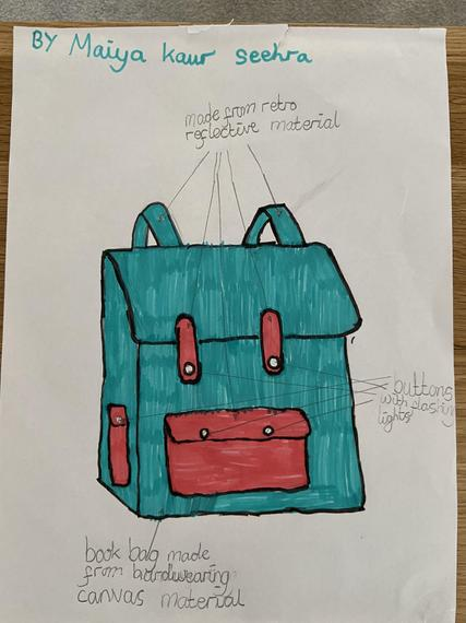 Maiya's excellent bag design from Science!
