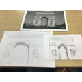 Stunning sketches of the Arc De Triomphe