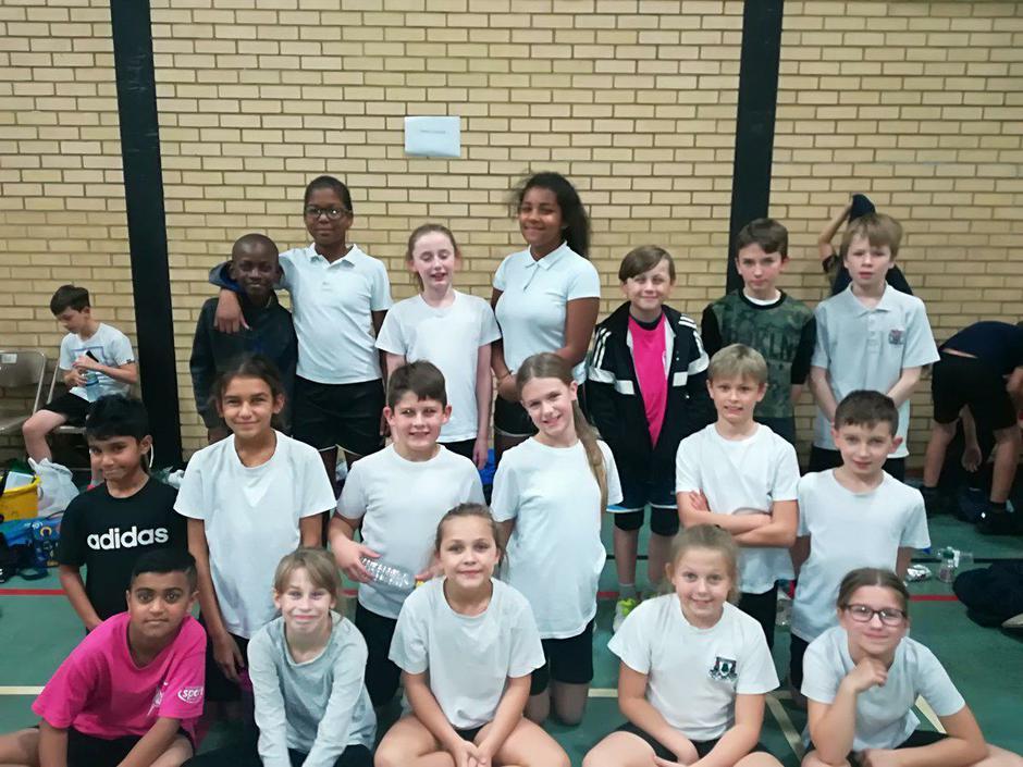 Indoor athletics team