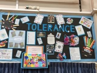 A showcase of work form each class on Tolerance