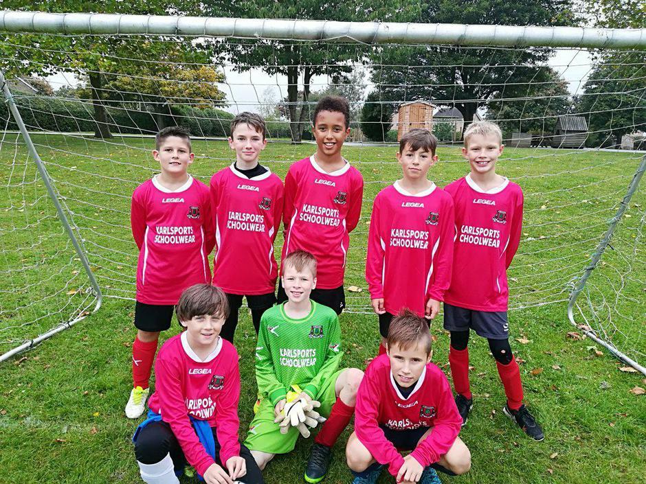 Year 6 boys football team