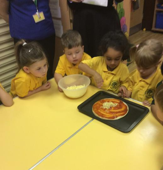 We then used our fingers to pinch and sprinkle