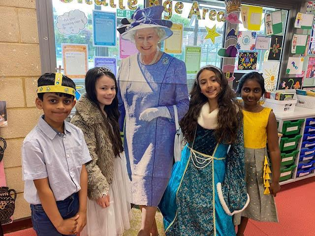 We dressed as queens and kings to celebrate the Queen's 95th Birthday