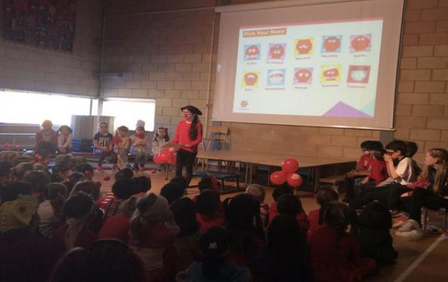 Red Nose Day assembly delivered by the School Council