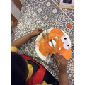 Creating a paper plate animal