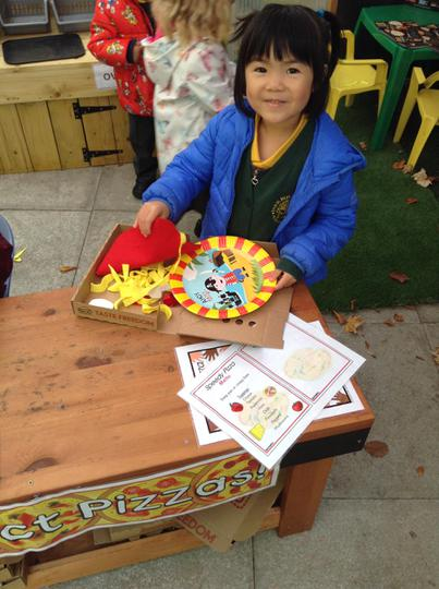 We loved making pizzas in our outdoor pizzeria!