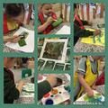 Painting our own jungle art work